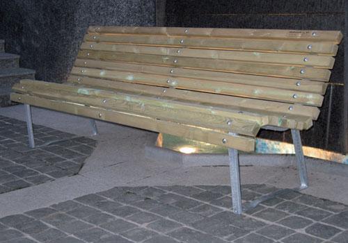 Panchine Spogliatoio Calcio : Panchine legno e acciaio bonsaglio